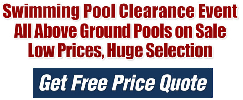 Swimming Pool Clearance Sale | Rec Pool and SpaHot Tubs Fort ...